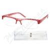 Brýle čtecí +2. 50 červeno-černé s pouzdrem