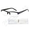 Brýle čtecí +2. 50 černé s pruhy a pouzdrem