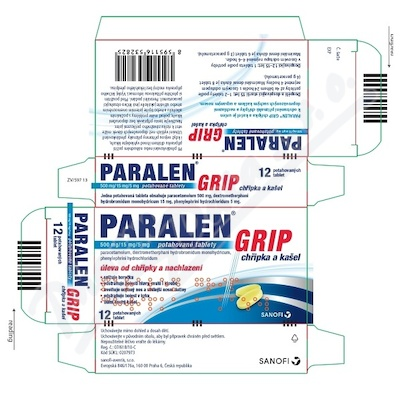 Paralen Grip chřipka a kašel 500-15-5mg tbl.flm.12